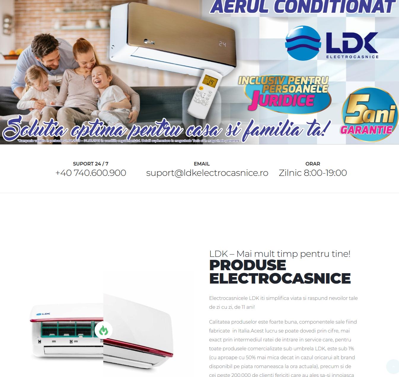 Creare site electrocasnice