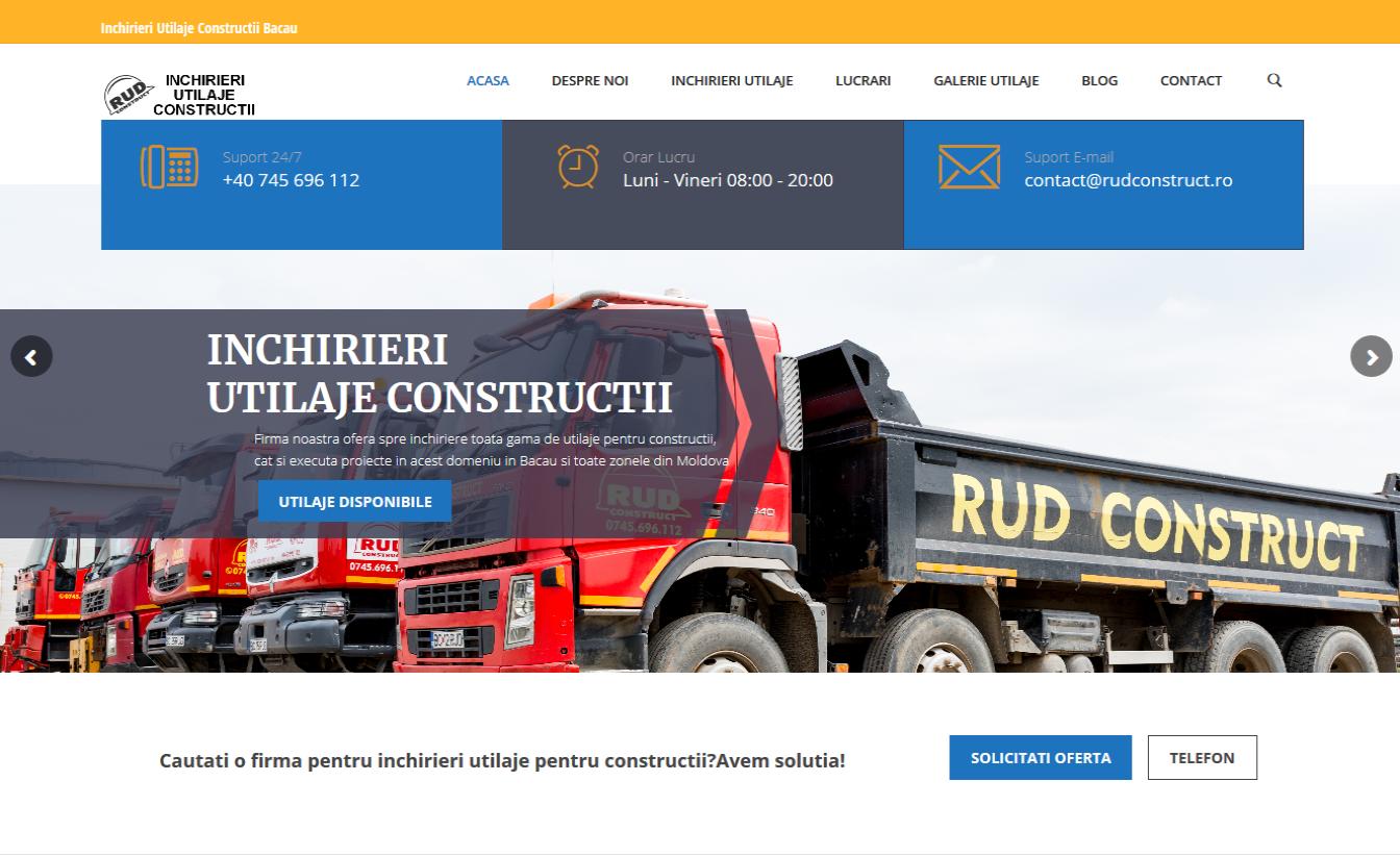 Creare Site inchirieri utilaje de constructie