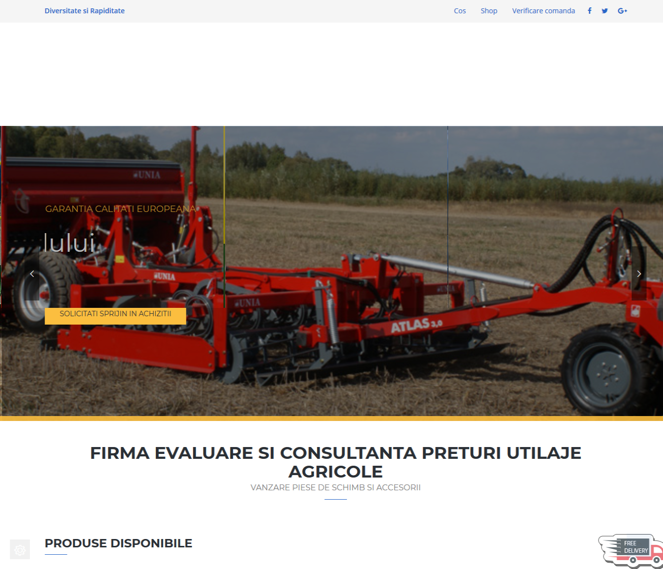 Creare Magazin Online Agricultura