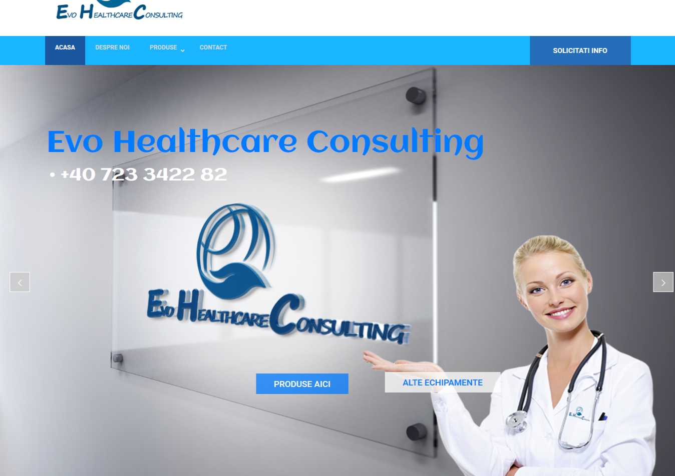 Creare site de prezentare medical