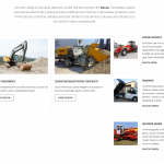realizare site utilaje constructie