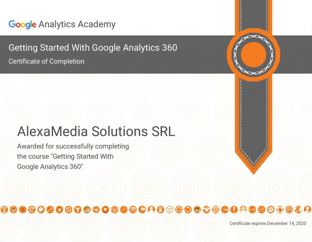 certificat Google Analytics