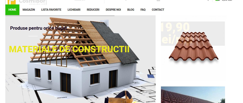 Creare magazin online materiale de constructie